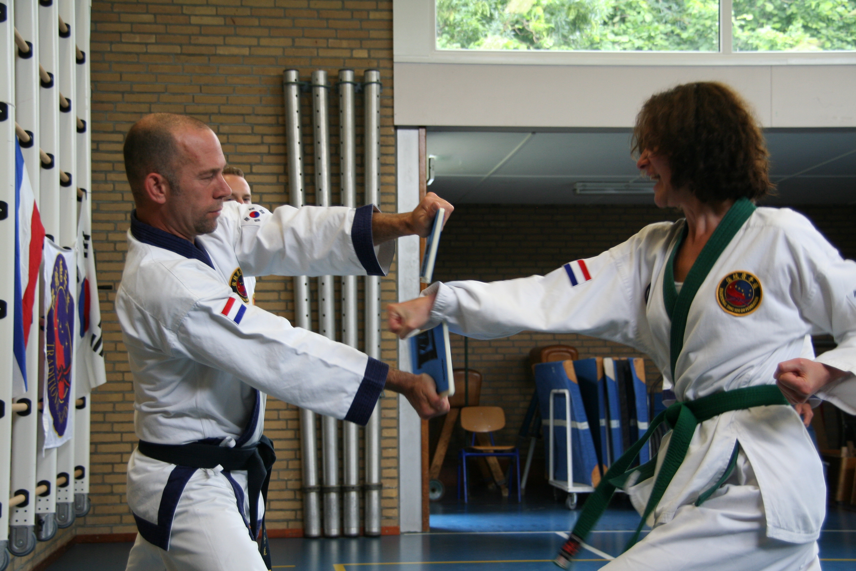 planken breken tang soo do koreaans karate