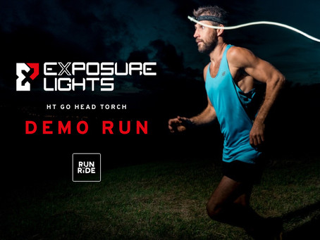 Exposure HT GO Head Torch Demo Run at Run & Ride Milford.