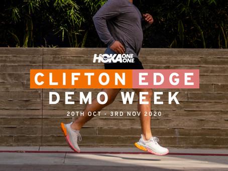 Hoka One One Clifton Edge Road Shoe Demo Fortnight at Stafford Runner.