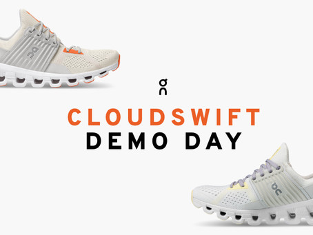 On Running Cloudswift Road Shoe Demo Day at Stafford Runner.