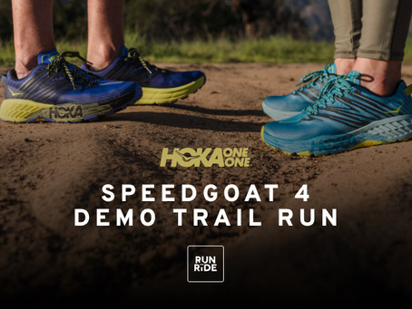 Hoka One One Speedgoat 4 Demo Trail Run at Run & Ride, Milford.