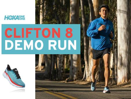 Hoka Clifton 8 Demo Run at Stafford Runner.
