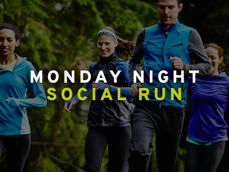 Join us for our weekly Monday night social run.
