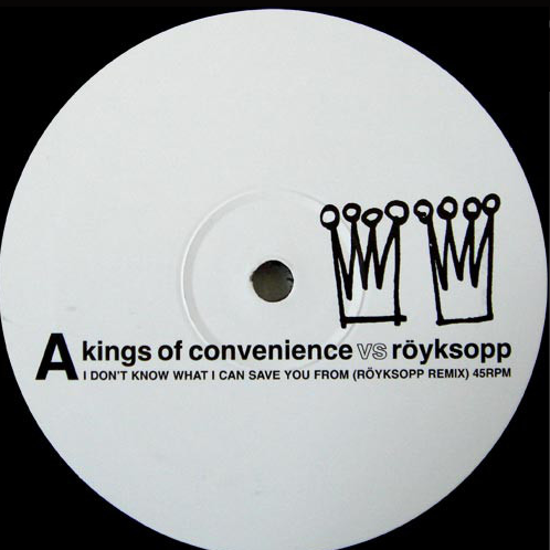 Kings Of Convenience vs Röyksopp ‎– I Don't Know What I Can Save You From