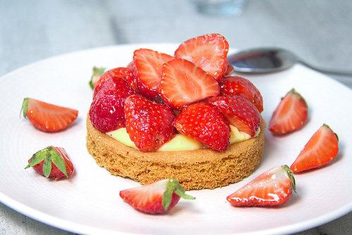 Tarte aux fraises ( sablé breton, fraise fraîche )