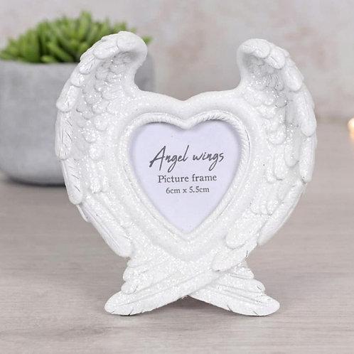 Glitter angel wing photo frame