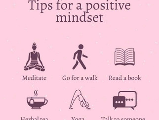 Tips for a positive mindset