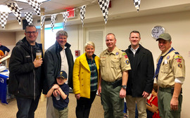 Candidates @ Pinewood Derby!