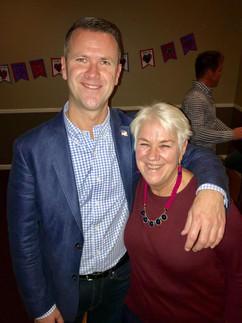 Tim & Mom at Veteran's Benefit Dinner