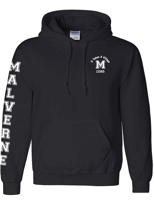 "Malverne ""It Takes a Village"" Sweatshirt - In Black"