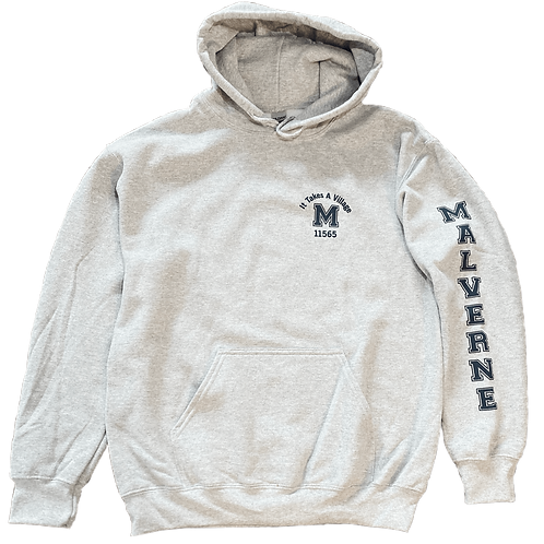 "Malverne ""It Takes a Village"" Sweatshirt - in Heather Grey"