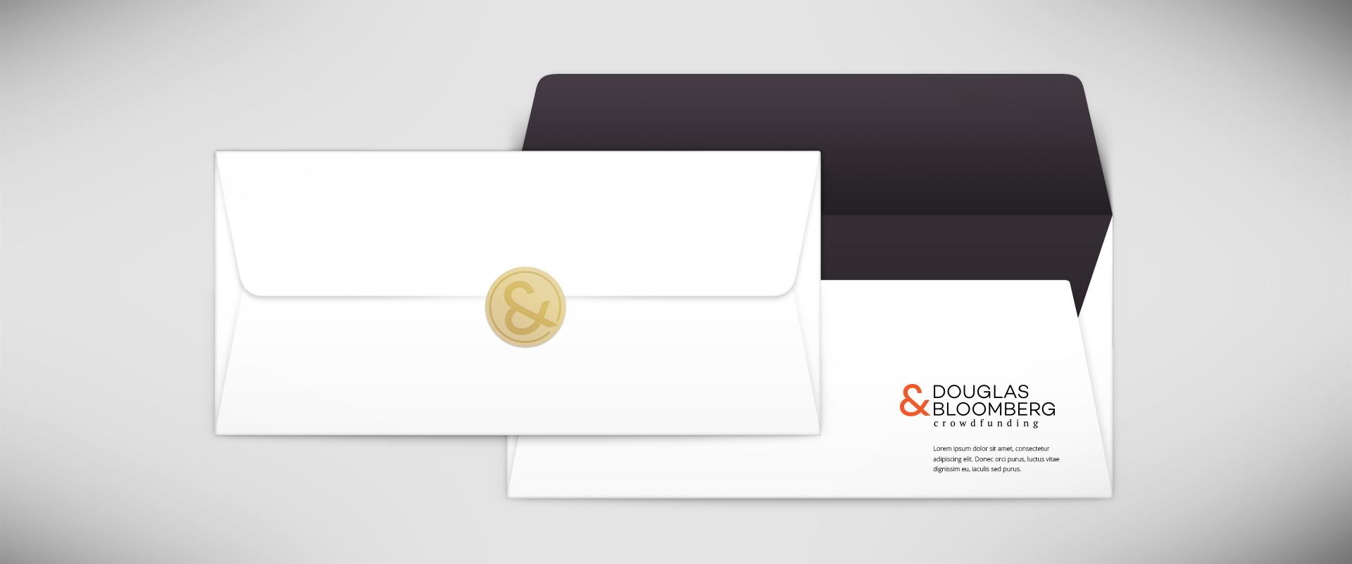הדמיית עיצוב ניירת מכתבים דגלס ובלומ