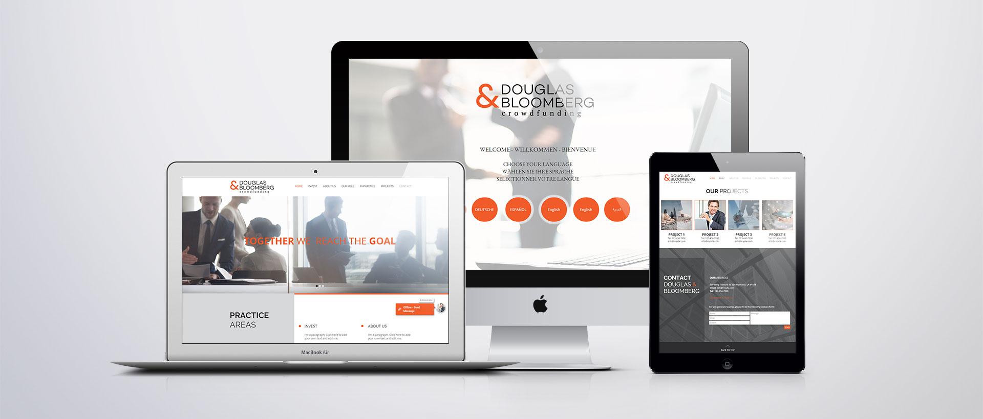 הדמיית עיצוב אתר דגלס ובלומברג