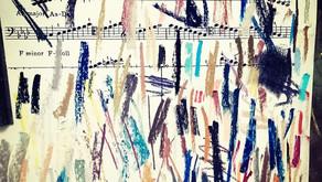 על החיים, ציור בצבעי פסטל  מנגינות ומה שבניהם