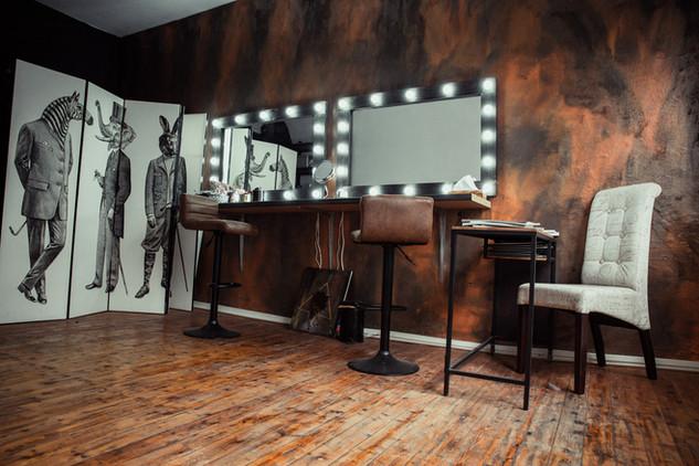 Make Up und Umkleideraum