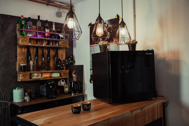 Barbereich: Kaffee & gekühlte Getränke