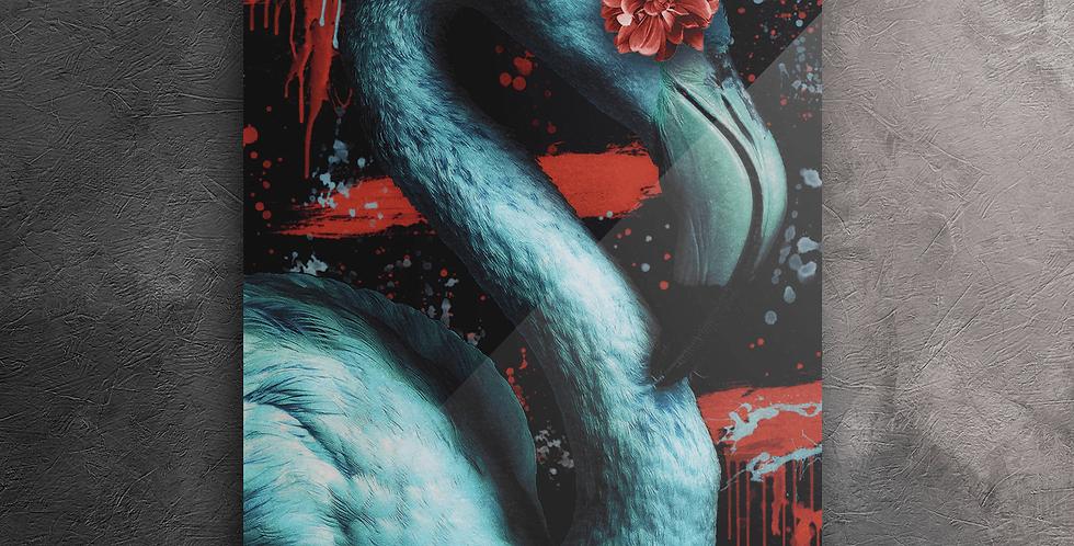 Wanddeko: Ice Flamingo