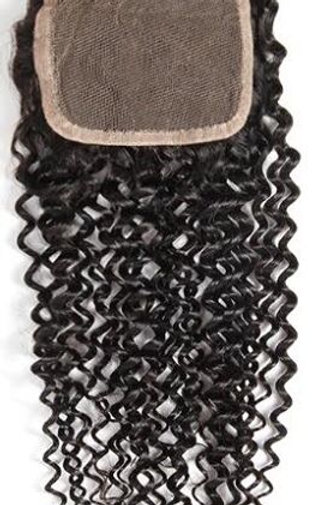 DIAMOND CURLY LACE CLOSURE