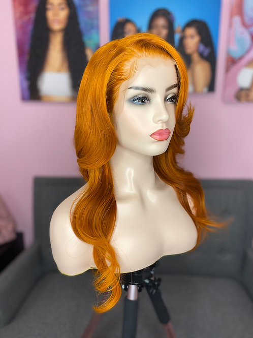 """👩🏾🦰18"""" Ginger Lace Front Unit"""