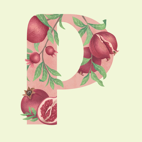 P is for Pomegrante