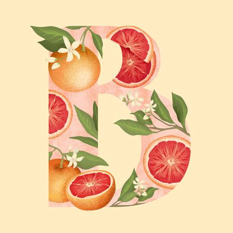 B is for Blood Orange