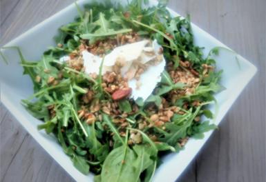 Clean Crunch on Spinach Salad