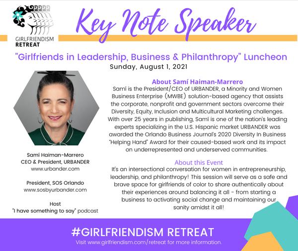 Sami Haiman-Marrero Business Brunch Keynote Speaker