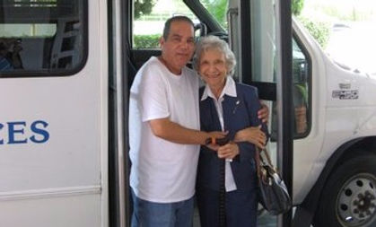 NMF Bus Driver Assisting Senior Citizen