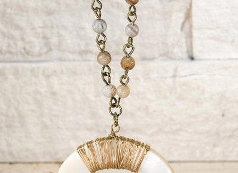 Crescent Horn Necklace Set