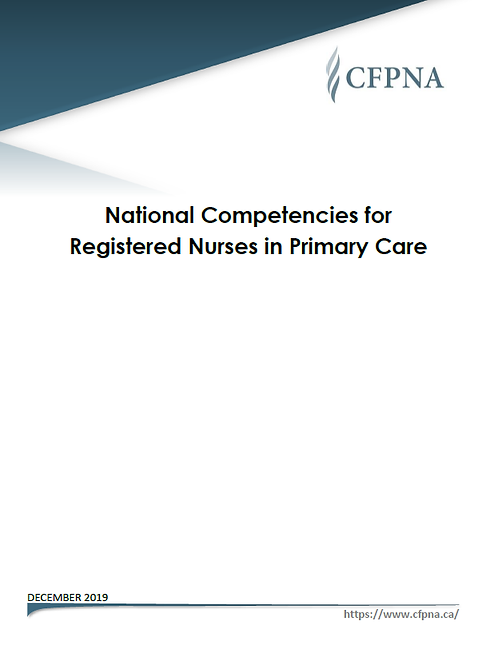 National Competencies for Registered Nurses in Primary Care (English & French)