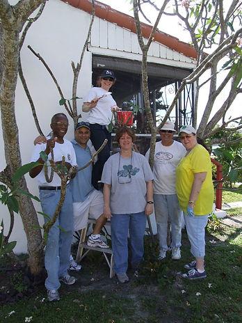 Group shot of NMF volunteers