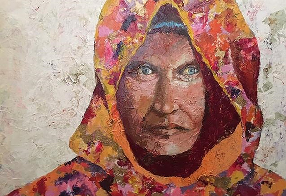 Woman in Chador