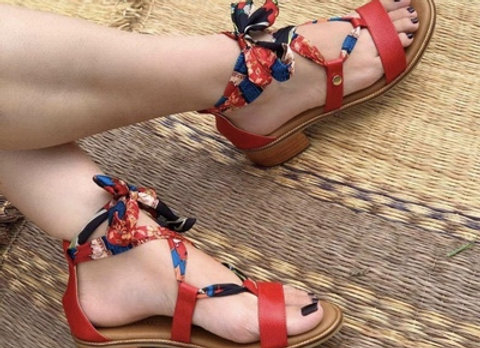 Last One! Colombian Leather Strap Sandals