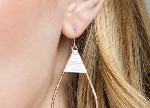 Two Toned Oval Earring