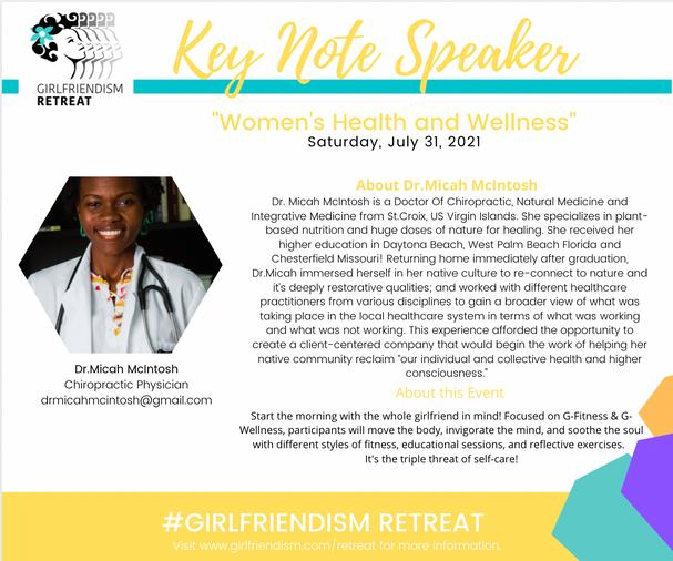Dr. Micah Key Note Speaker