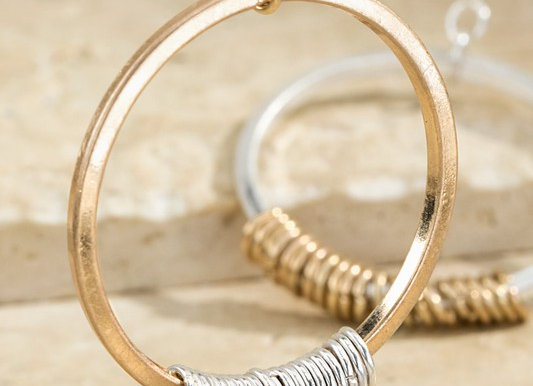 Two Toned Hoop Earring