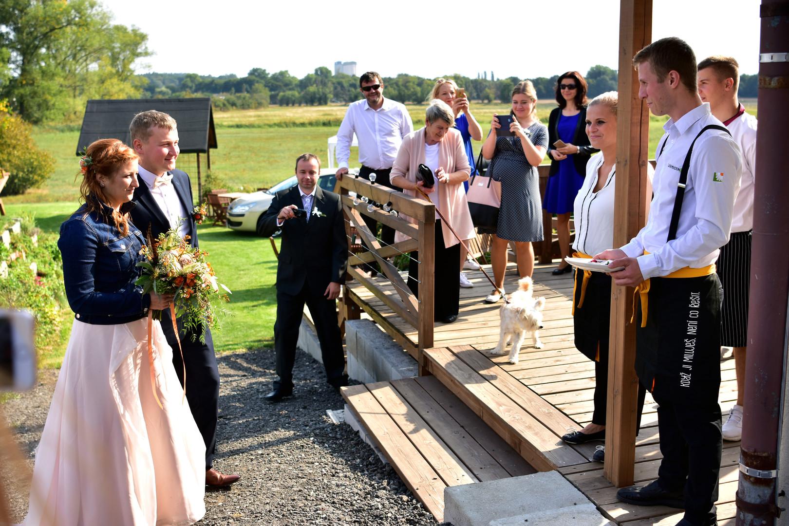 Přivítání novomaželů