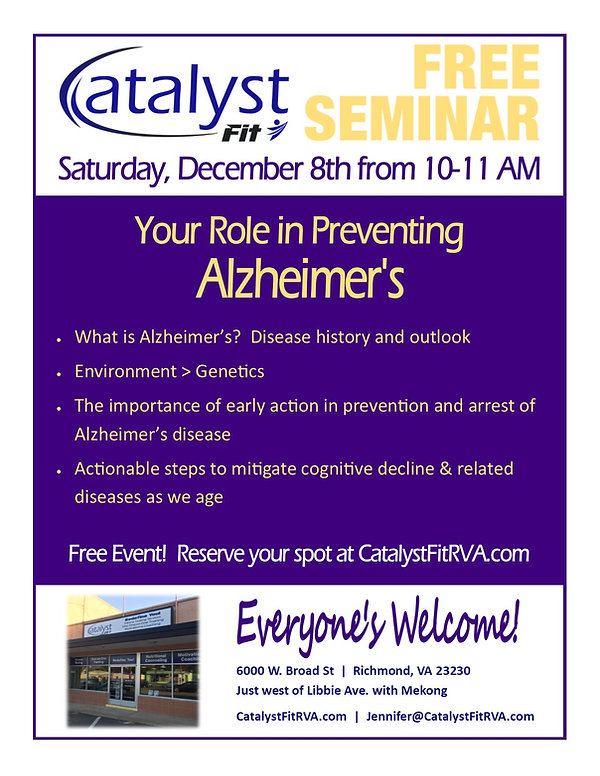 Catalyst Fit Your Role in Preventing Alz