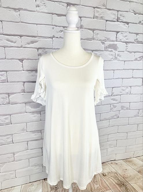 White Tulip Sleeve Top