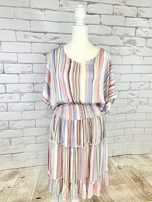Multi Colored Stripe Dress