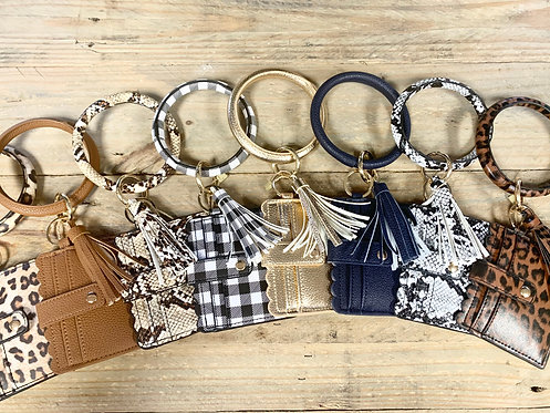 Key Ring with Card Wallet