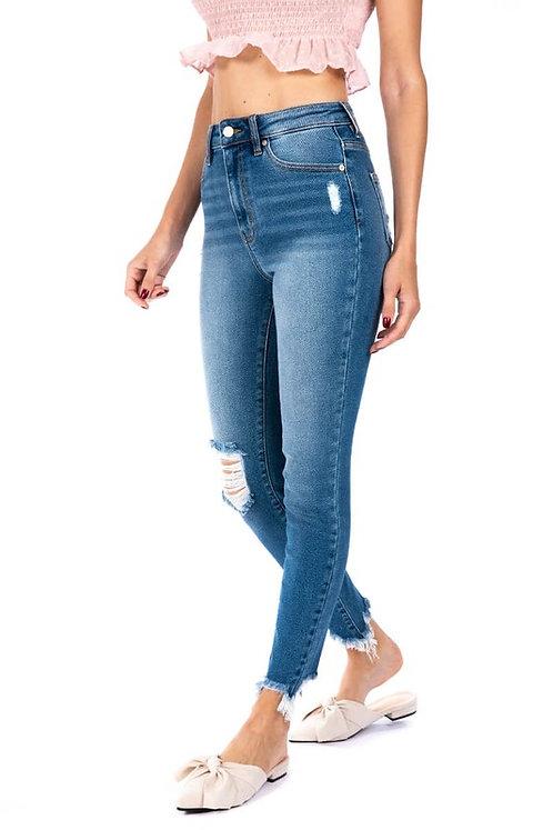 KanCan Super High Rise Distressed Jeans
