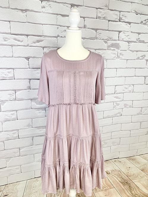 Lavender Tiered Mini Dress
