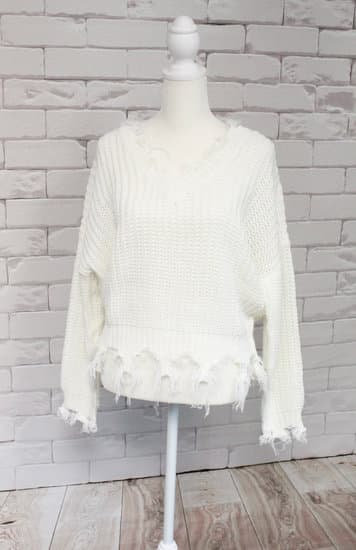 Off-White Distressed Sweater