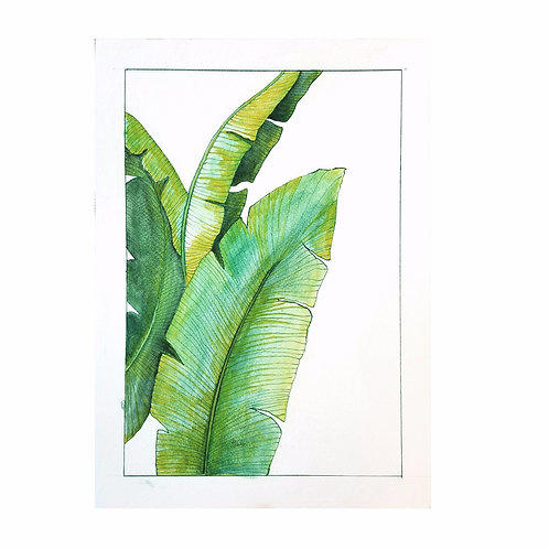 Handmade Palm Art Print