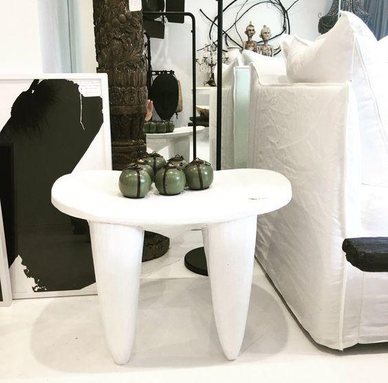 White senufo stool