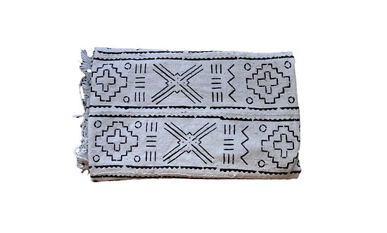 African Mud Cloth Throw