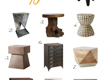 Round-Up: Side Tables