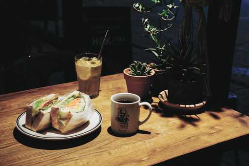 サンドイッチ コーヒー