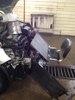 Чистка радиатора Audi Q7